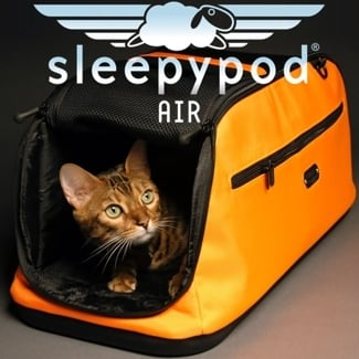Sleepypod Air in-cabin pet carrier & DryFur inserts