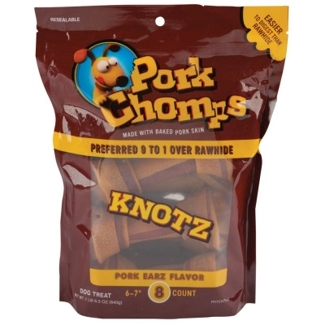 Pork Knotz Dog Bone Treats by Pork Chomps