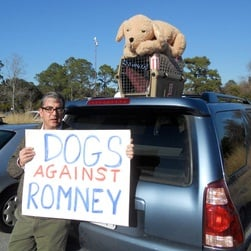 Romney hounded for placing family dog in rooftop kennel