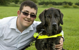 Vegetarian guide dog is allergic to meat