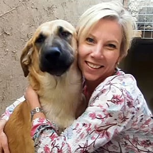 Dog from Afghanistan adopted by woman who saved him