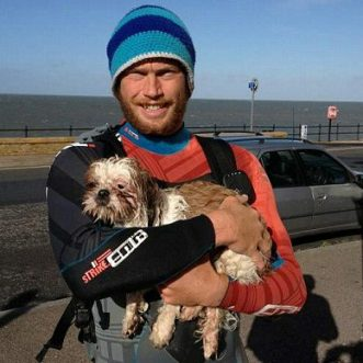 Paddleboarder saves Shih Tzu dog stranded at sea