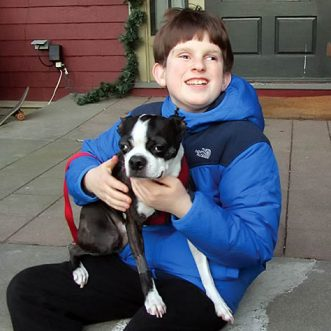 Boy fundraises to keep dog from going blind