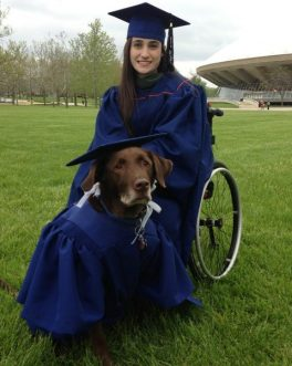 Photo of service dog at college graduation goes viral