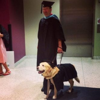 Service dog earns graduate degree
