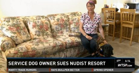 Guide dog no longer welcome at Florida nudist resort