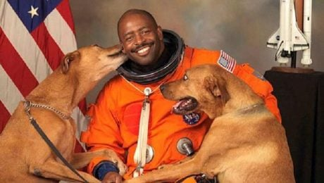 Astronaut Brings His Dogs For His Official NASA Photo
