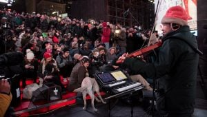 A Concert For Dogs? Laurie Anderson Performs For Pooches In Times Square
