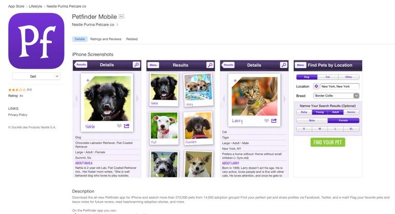 petfinder-app-iphone