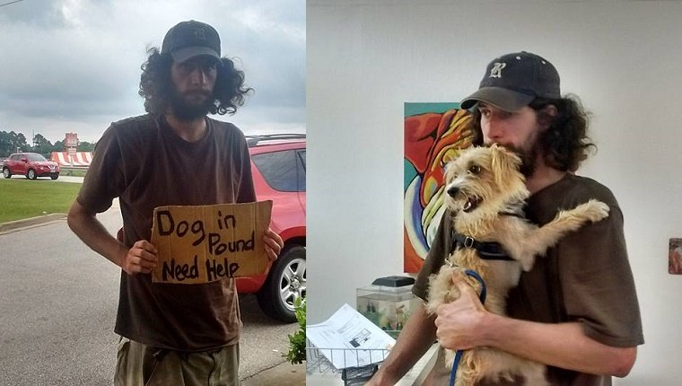 Stranger Helps Homeless Man Get His Dog Out Of The Pound