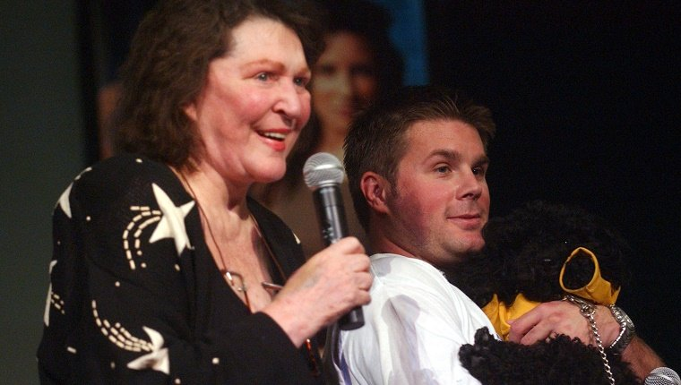 Majel Roddenberry and son Eugene Roddenberry (Photo by Albert L. Ortega/WireImage)