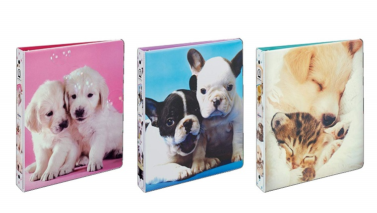 dog themed binders