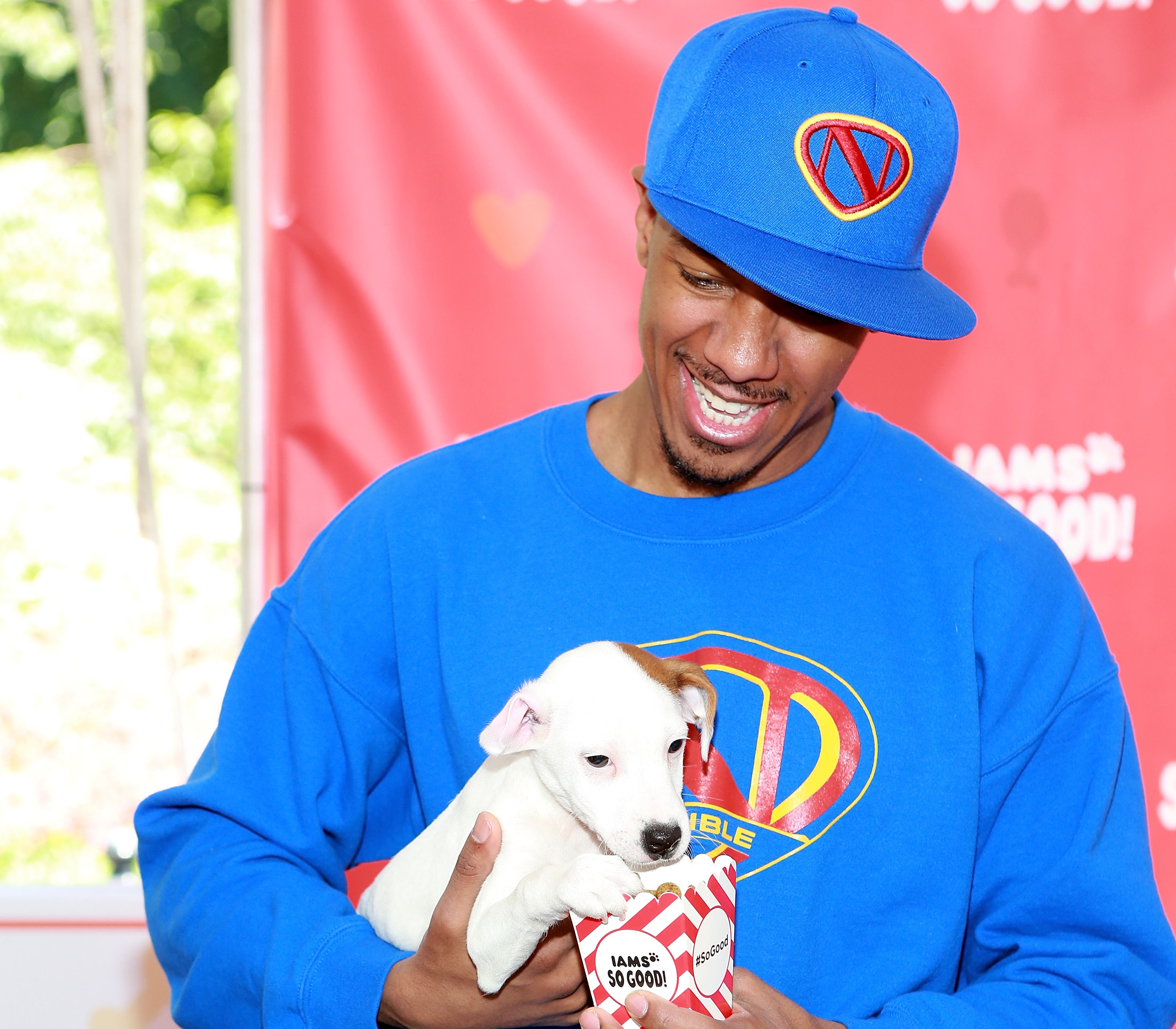Nick Cannon And His Puppy, The Reverend Pow Jackson
