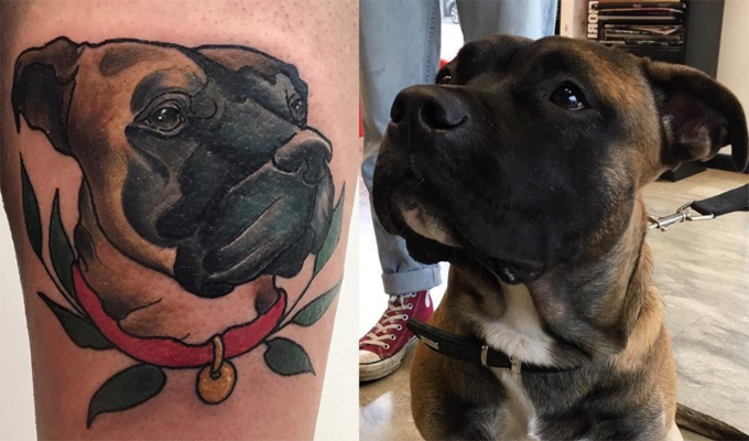 Dog Owner Pet Tattoo