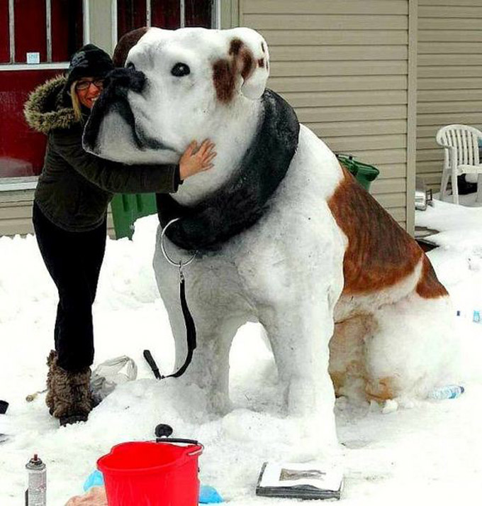 23 Awesome Dog Shaped Snowmen Pictures Dogtime